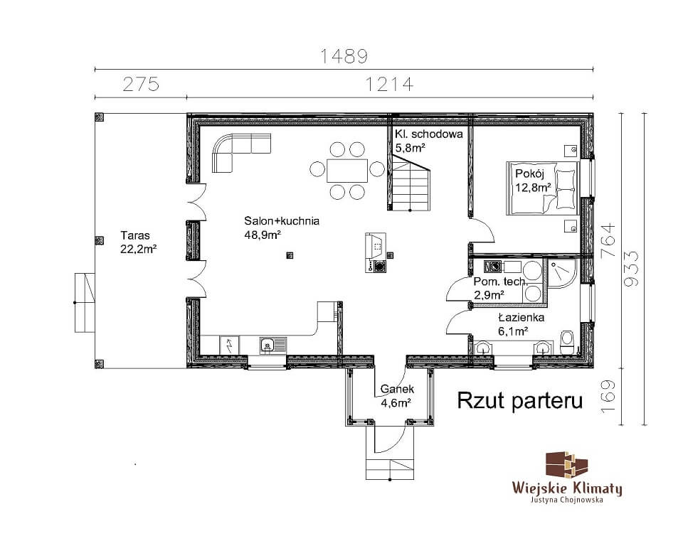projekt domu drewnaiego maranka 5,1