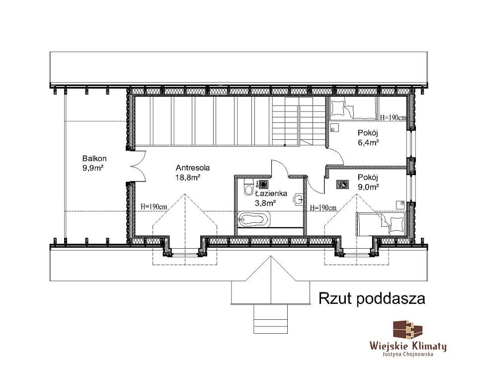 projekt domu drewnaiego maranka 5,2