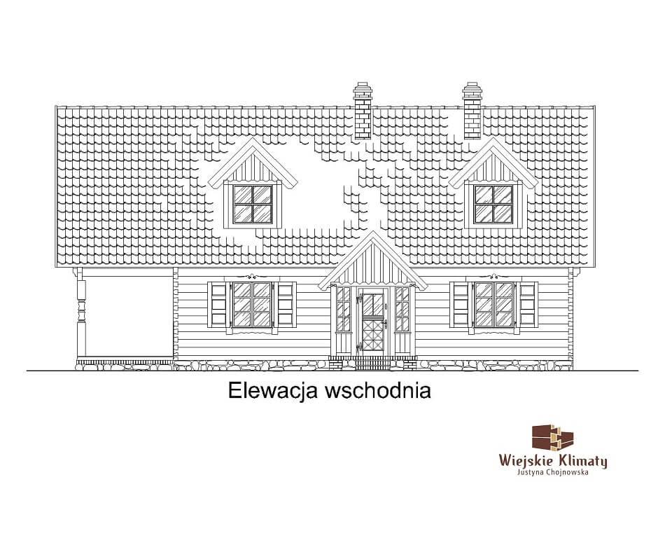 projekt domu drewnaiego maranka 5,3