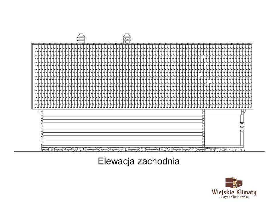 projekt domu drewnaiego maranka 5,4