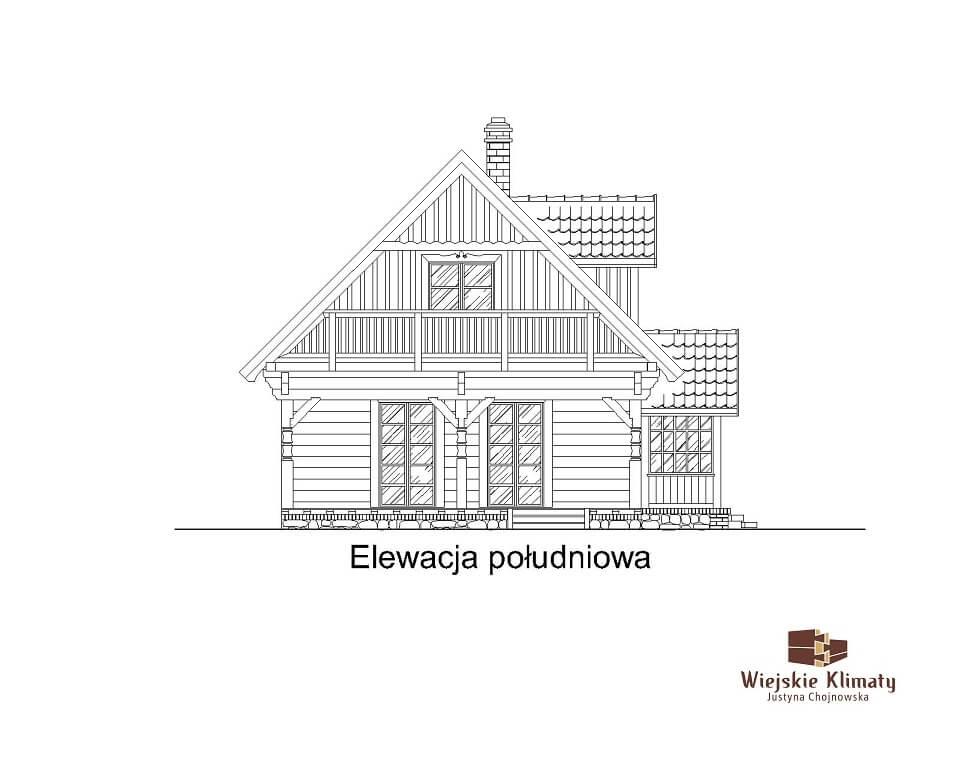 projekt domu drewnaiego maranka 5,5
