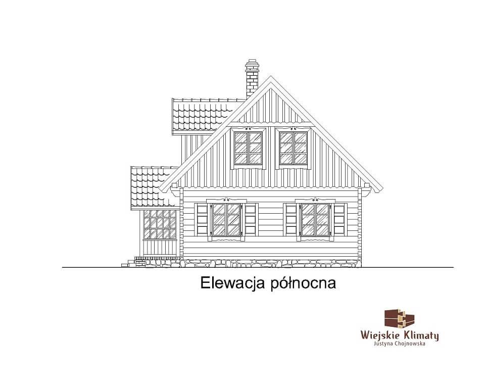 projekt domu drewnaiego maranka 5,6