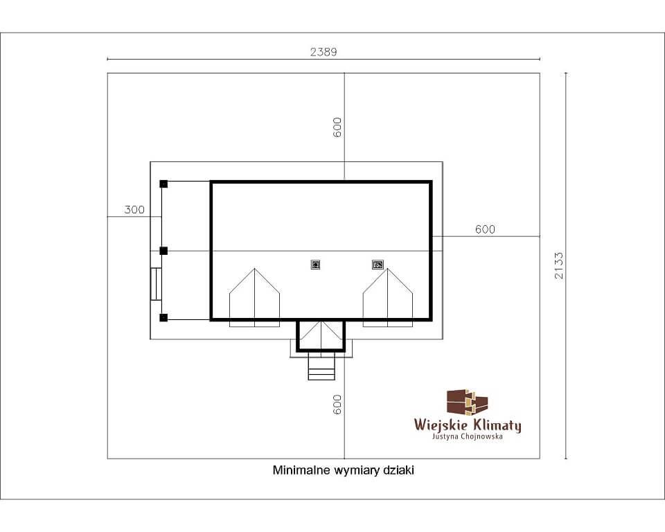 projekt domu drewnaiego maranka 5,8