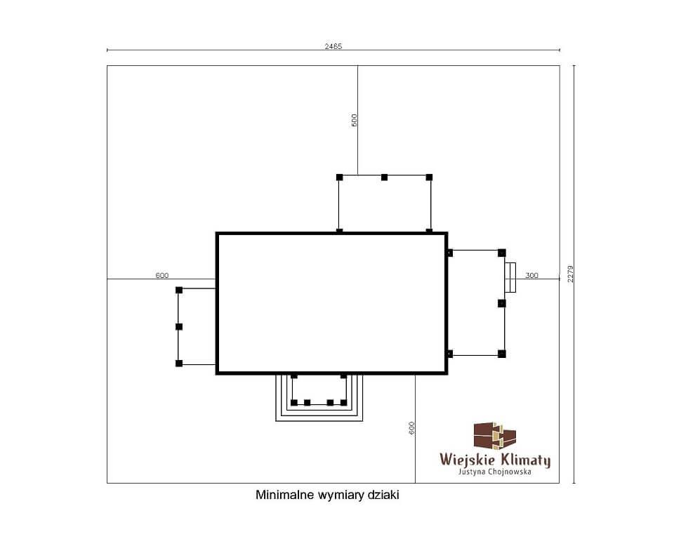 projekt domu drewnianego borowina 5,8
