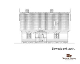 projekt domu drewnianego borowina 6,4