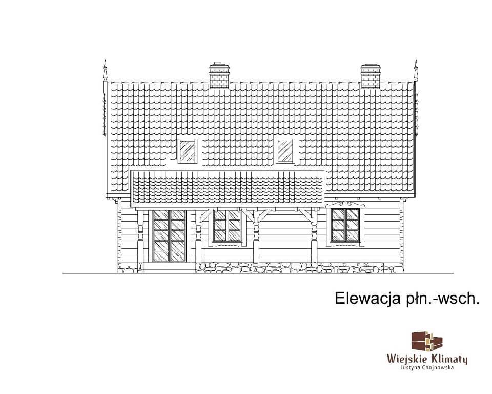 projekt domu drewnianego borowina 6,5
