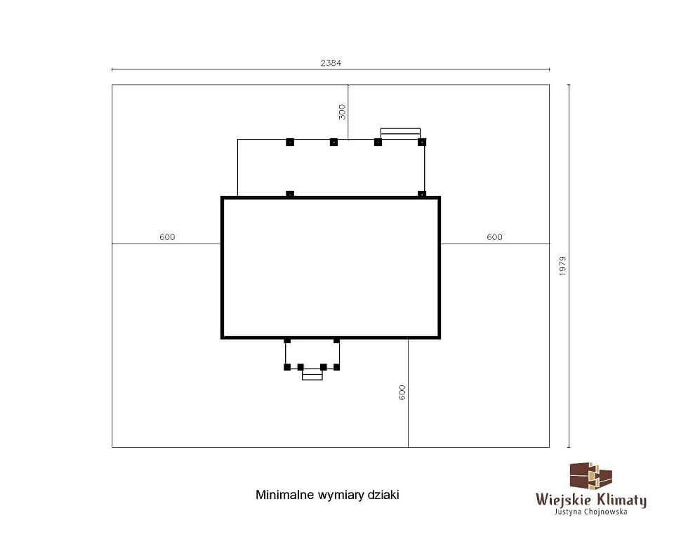 projekt domu drewnianego borowina 6,8