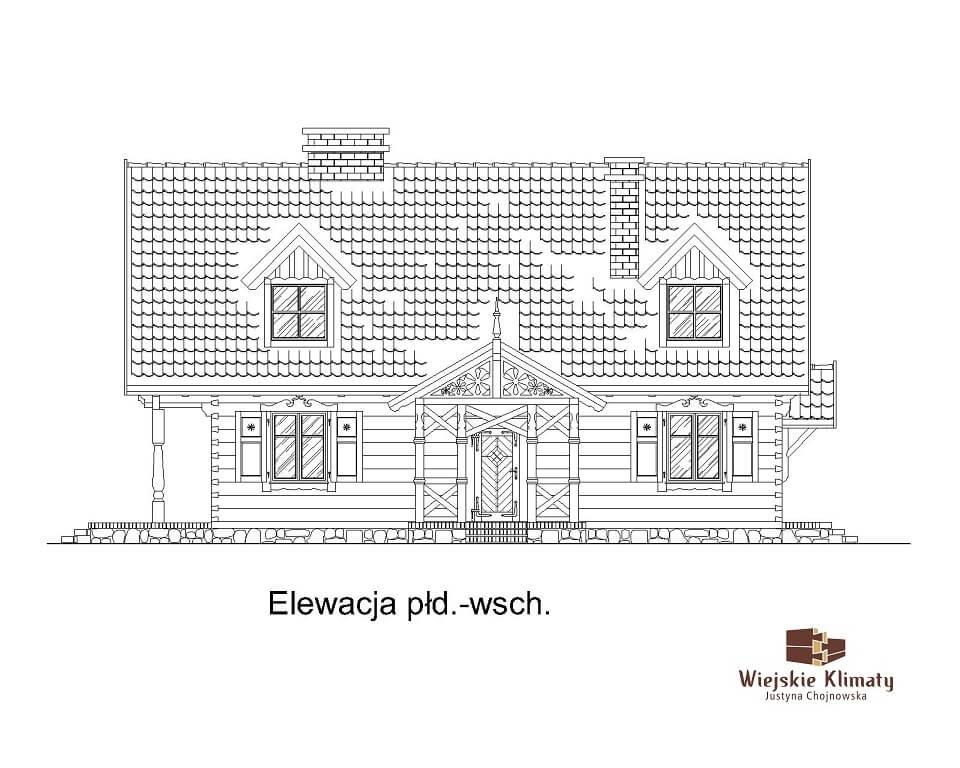 projekt domu drewnianego dobrota 1,3