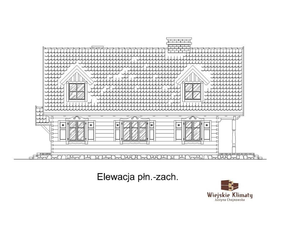 projekt domu drewnianego dobrota 1,4