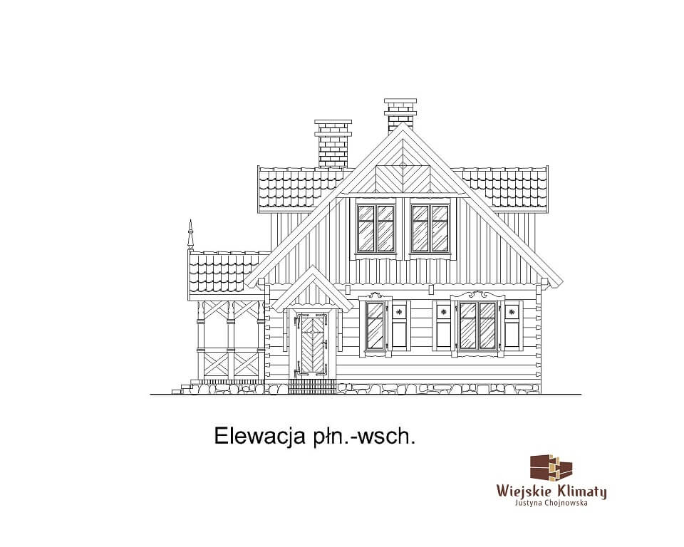 projekt domu drewnianego dobrota 1,6