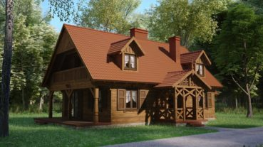projekt domu drewnianego dobrota 1,9