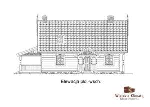 projekt domu drewnianego mazurskiego borowina 2,3