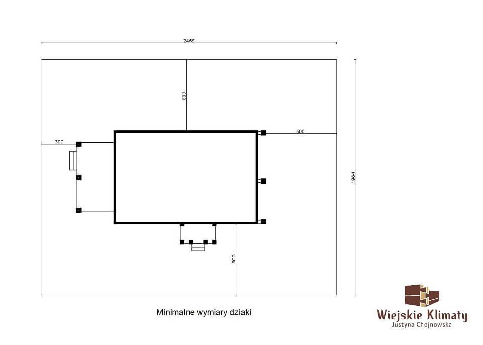 projekt domu drewnianego mazurskiego borowina 2,7