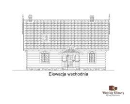 projekt domu drewnianego mazurskiego borowina 4,4