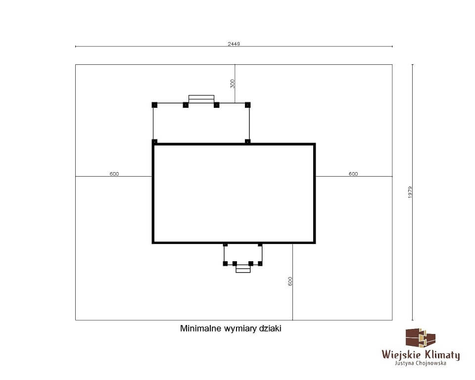 projekt domu drewnianego mazurskiego borowina 4,8