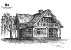 projekt domu drewnianego mazurskiego chojniak 1,10