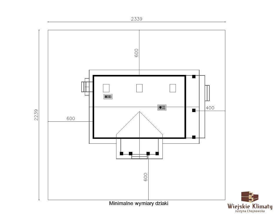 projekt domu drewnianego mazurskiego chojniak 1,9
