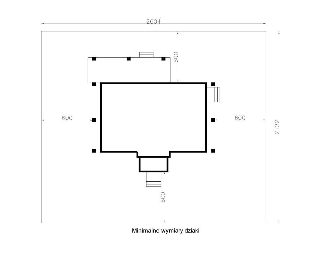projekt domu drewnianego mazurskiego dziewcak 1.8