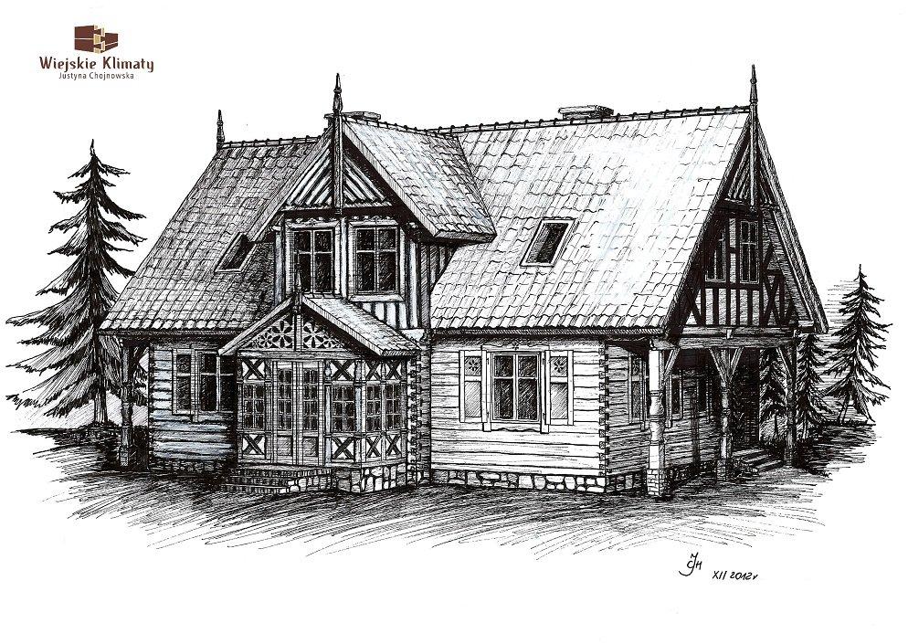 projekt domu drewnianego mazurskiego dziewcak