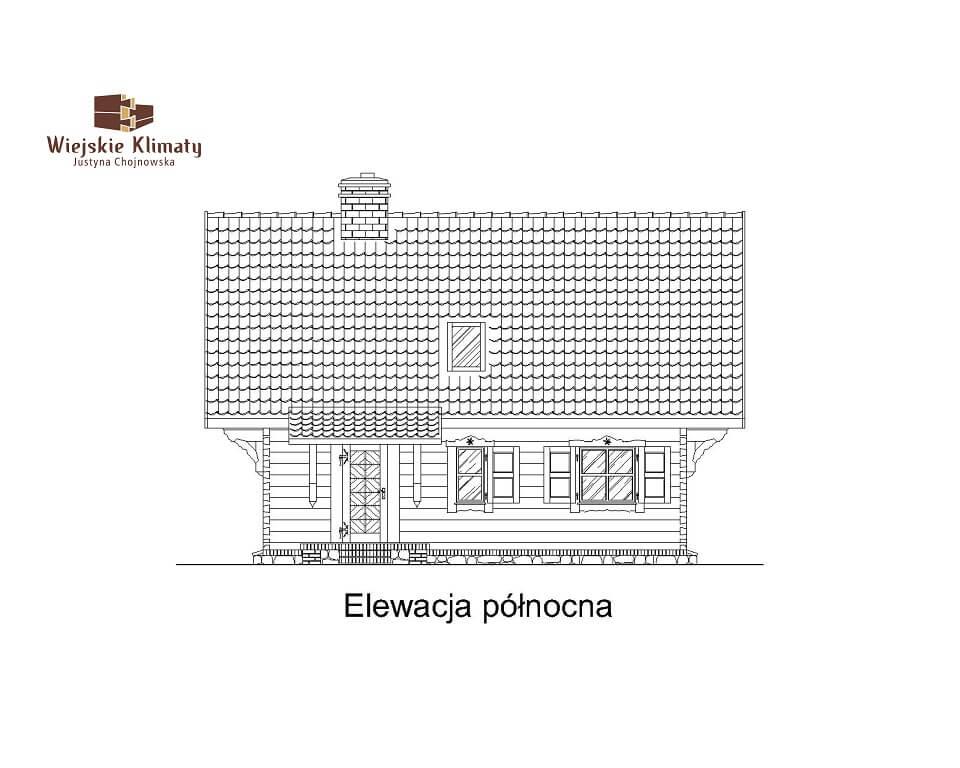 projekt domu drewnianego mazurskiego frejlenka 1,3