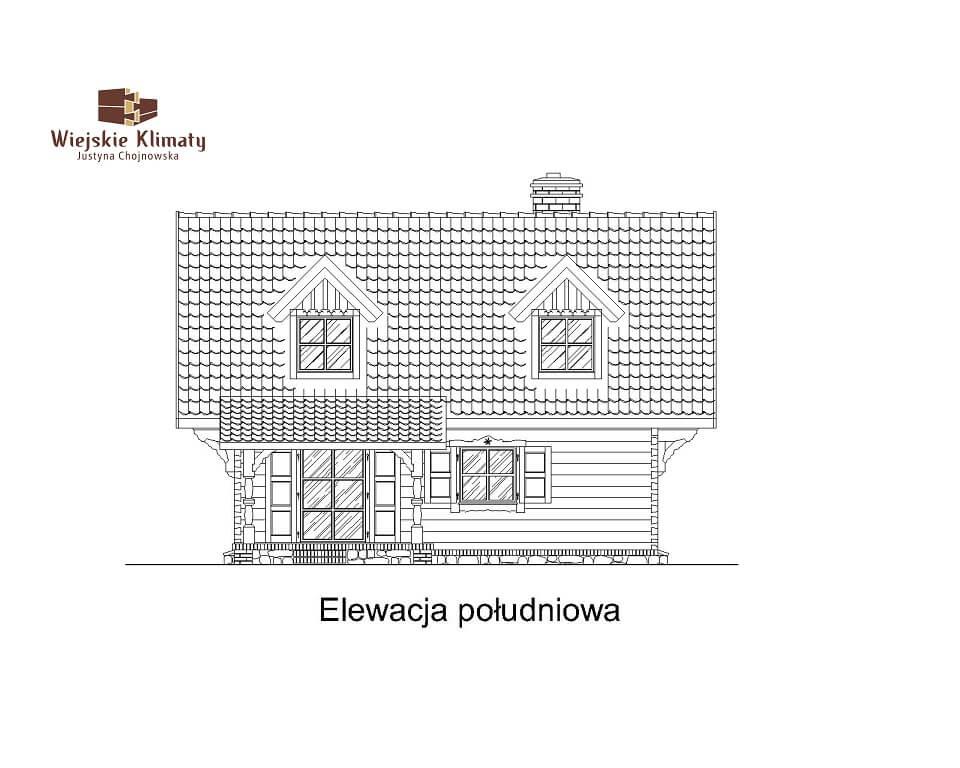 projekt domu drewnianego mazurskiego frejlenka 1,4