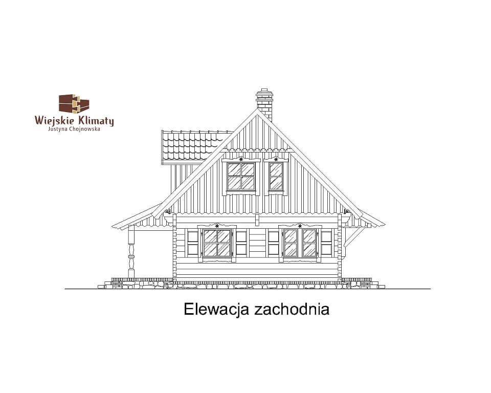 projekt domu drewnianego mazurskiego frejlenka 1,5