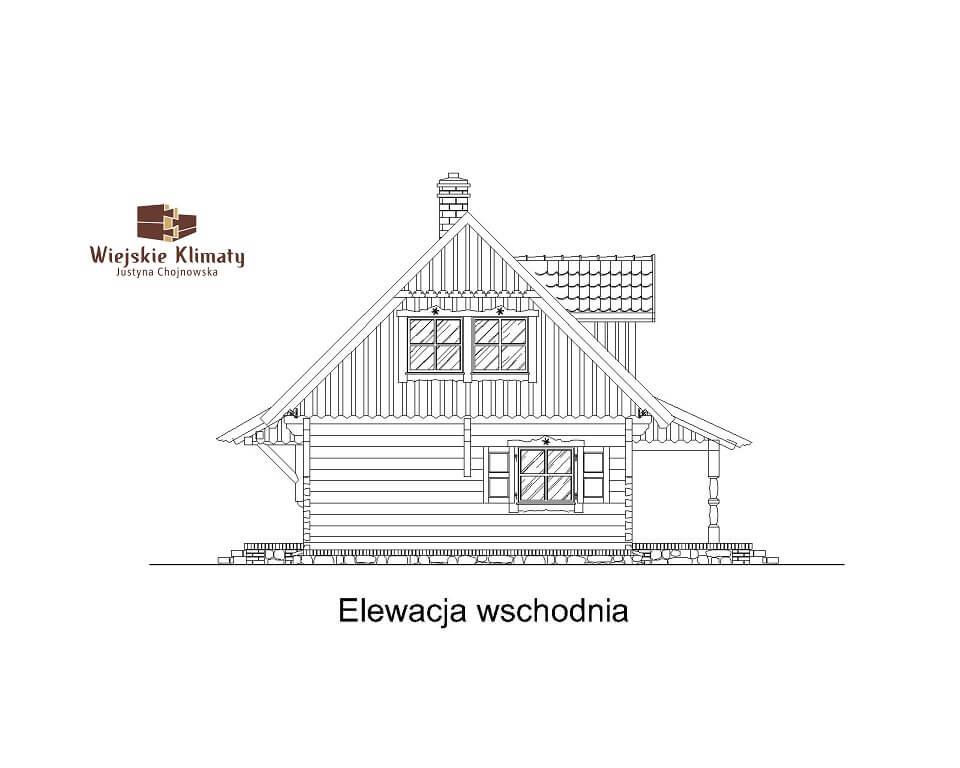 projekt domu drewnianego mazurskiego frejlenka 1,6