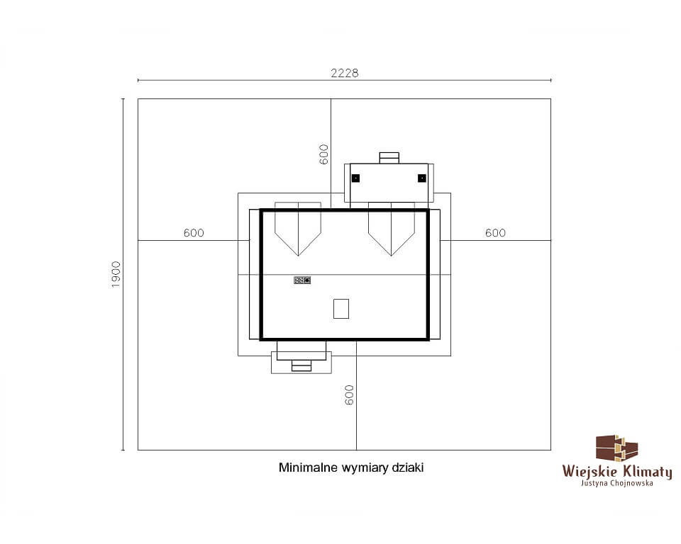 projekt domu drewnianego mazurskiego frejlenka 1,8