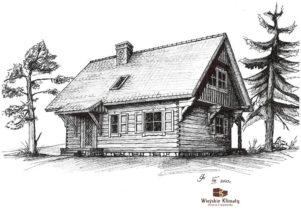 projekt domu drewnianego mazurskiego frejlenka 1,9