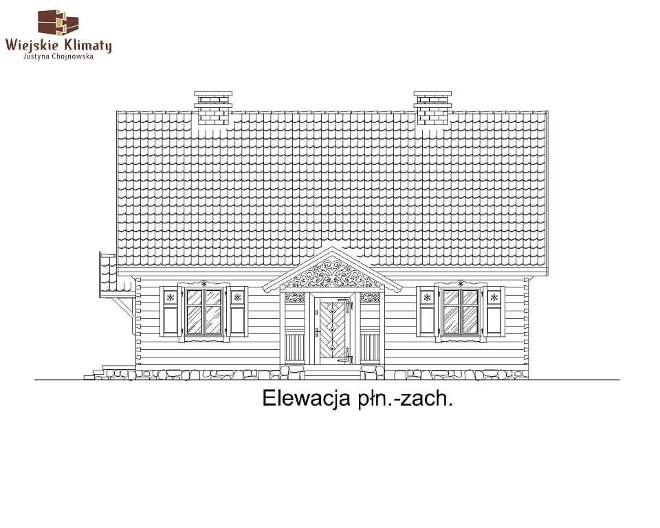 projekt domu drewnianego mazurskiego lenka 1,3