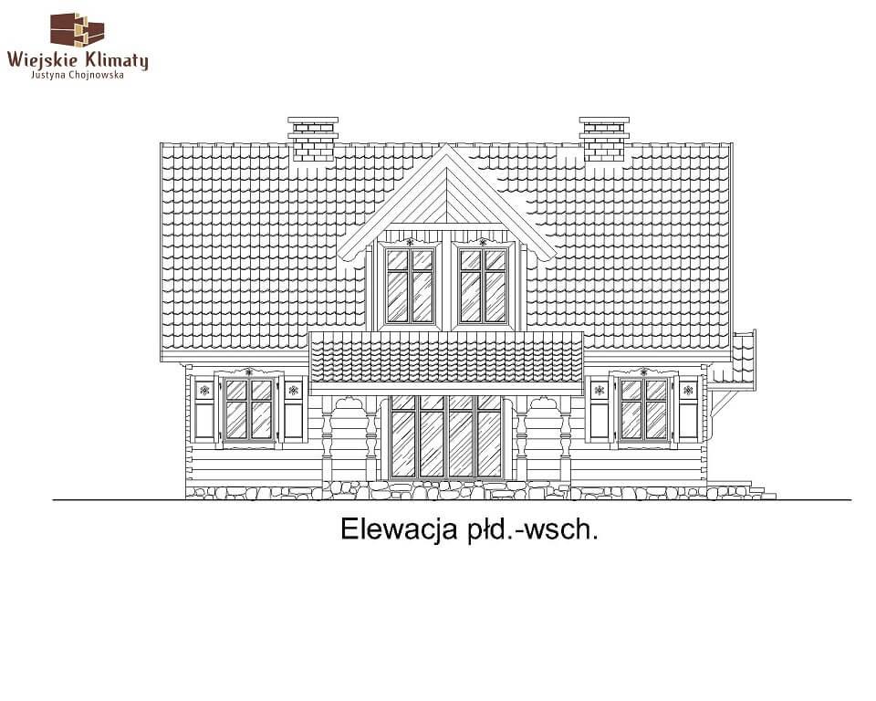 projekt domu drewnianego mazurskiego lenka 1,4