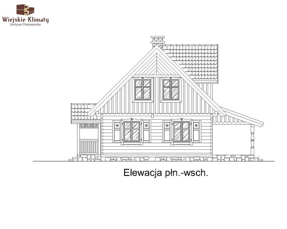 projekt domu drewnianego mazurskiego lenka 1,5