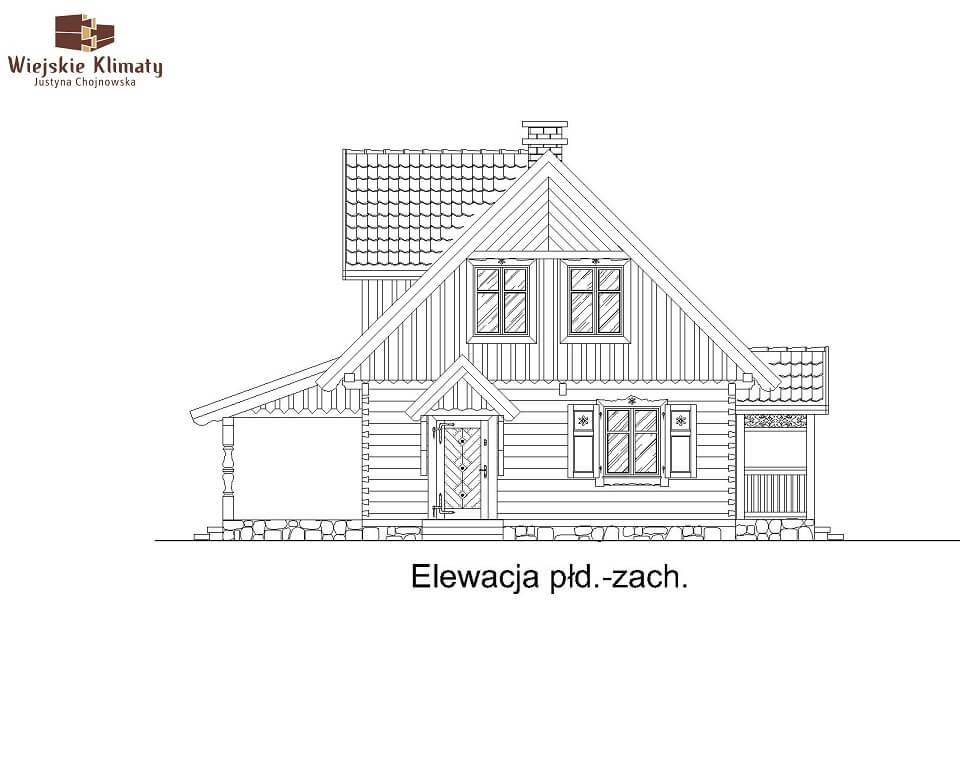 projekt domu drewnianego mazurskiego lenka 1,6