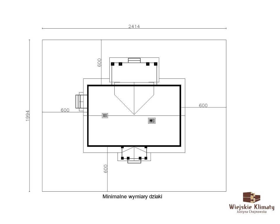 projekt domu drewnianego mazurskiego lenka 1,8
