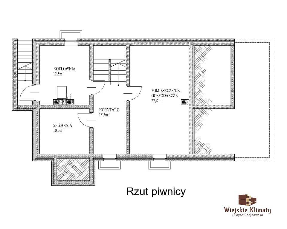 projekt domu drewnianego mazurskiego maranka 1.1