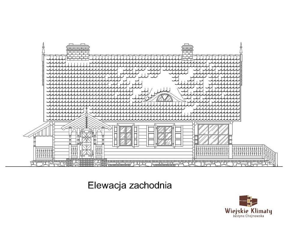 projekt domu drewnianego mazurskiego maranka 1.4