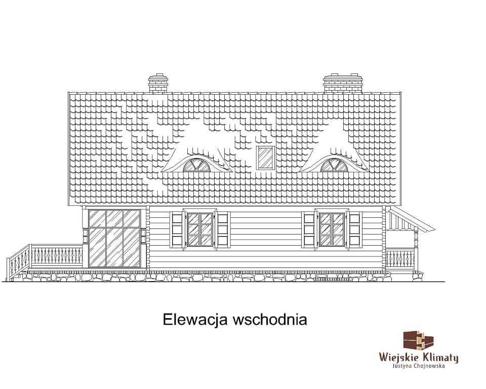 projekt domu drewnianego mazurskiego maranka 1.5