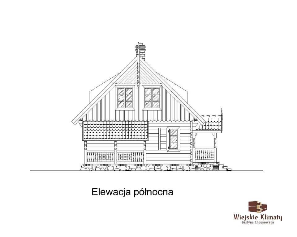 projekt domu drewnianego mazurskiego maranka 1.6