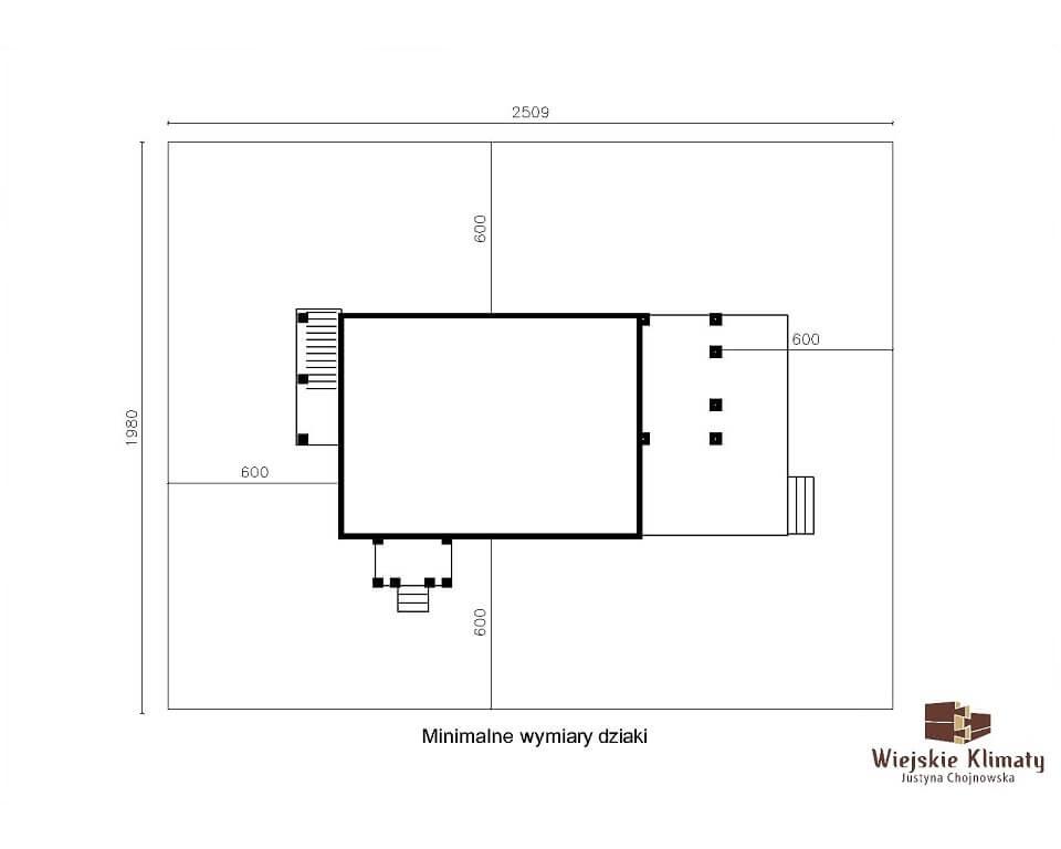 projekt domu drewnianego mazurskiego maranka 1.9