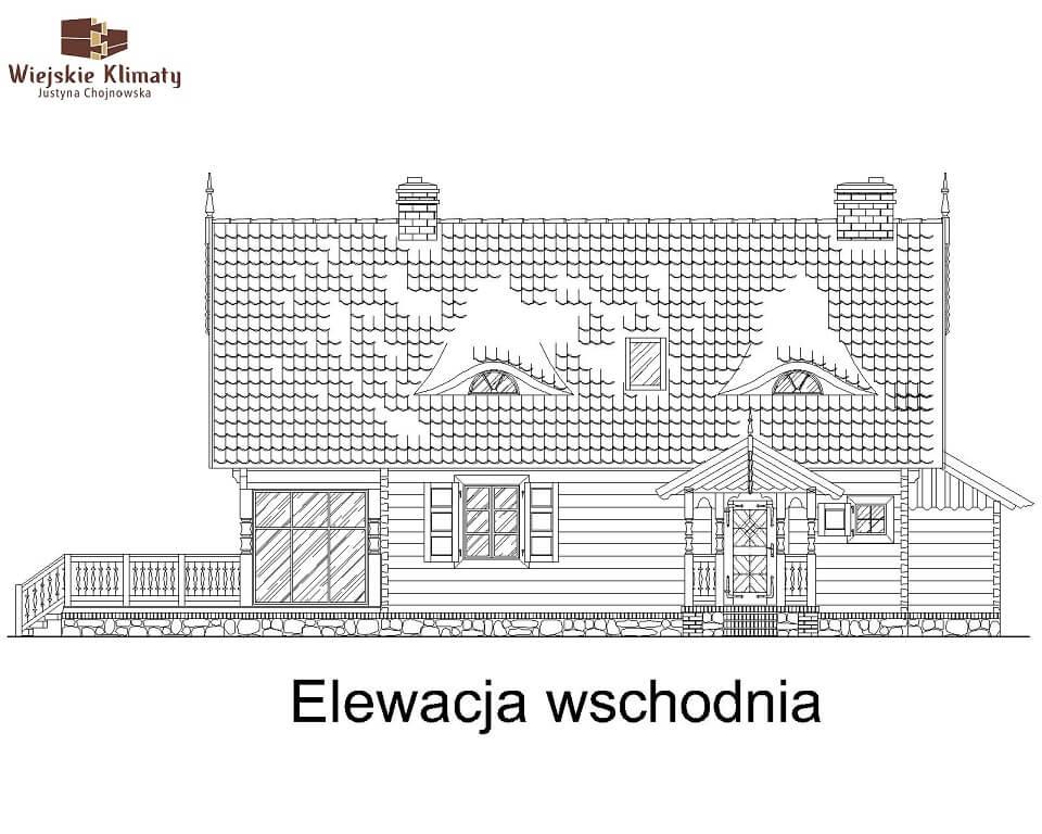 projekt domu drewnianego mazurskiego maranka 4,3