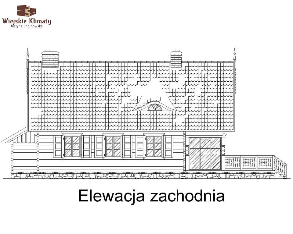 projekt domu drewnianego mazurskiego maranka 4,4