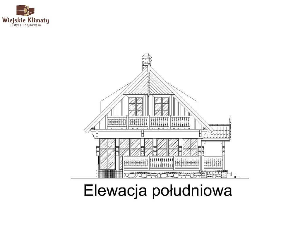 projekt domu drewnianego mazurskiego maranka 4,5