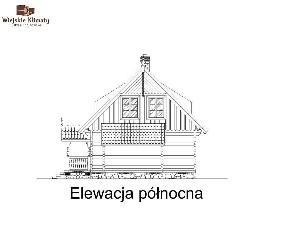 projekt domu drewnianego mazurskiego maranka 4,6