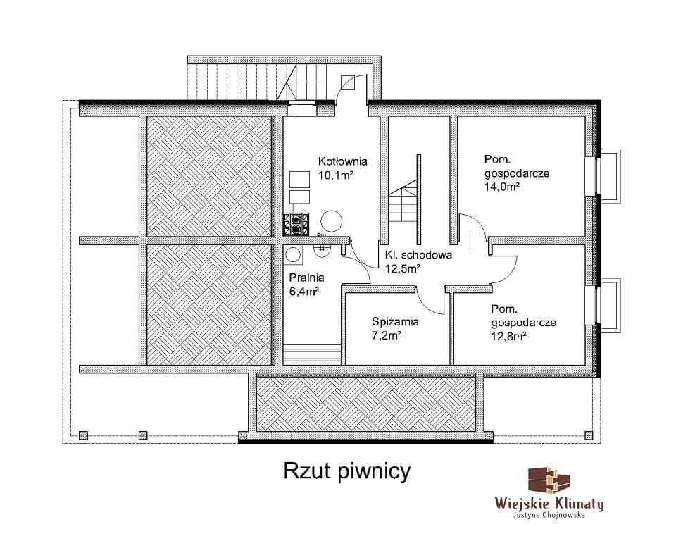 projekt domu drewnianego z bala wianek 1,1