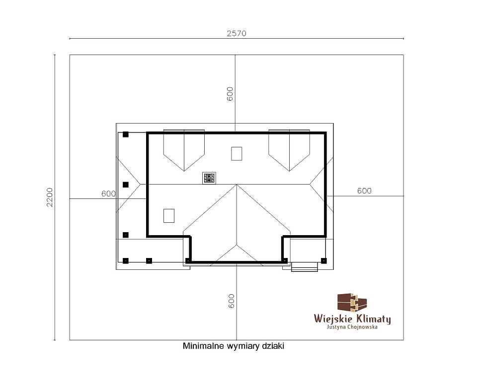 projekt domu drewnianego z bala wianek 1,9