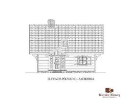projekt domu drewnianego z bali frejlenka 2,3