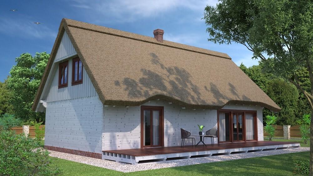 projekt domu drewnianego z bali ranek 1,10