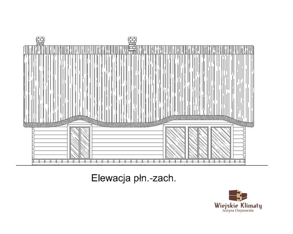 projekt domu drewnianego z bali ranek 1,4