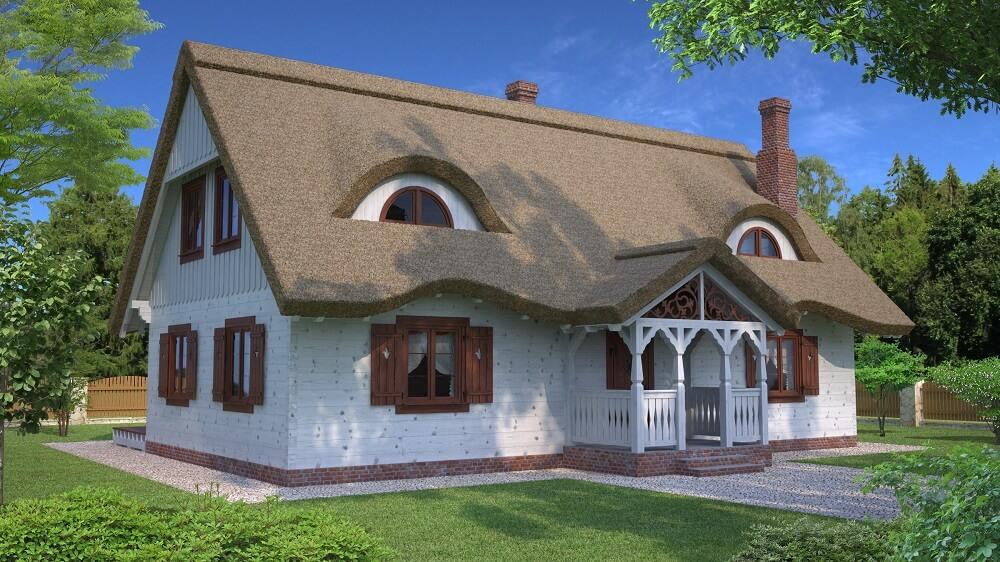 projekt domu drewnianego z bali ranek