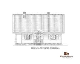 projekt domu drewnianego z bali zawdy 1,4
